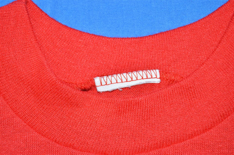 80s Go Martians Mars University Coat of Arms Red and Blue Striped Funny t-shirt Youth Medium