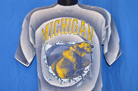 90s Michigan University Wolverines t-shirt Large