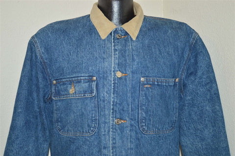 90s Ralph Lauren Polo Lined Chore Barn Denim Jacket Large