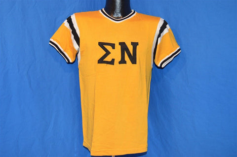 50s Sigma Nu Greek Fraternity Jersey t-shirt Small
