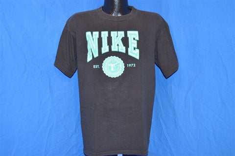 90s Nike Seal Est. 1972 Black Cotton t-shirt Large