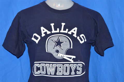 70s Dallas Cowboys Blue Bar Champion Cropped Half Shirt t-shirt Small