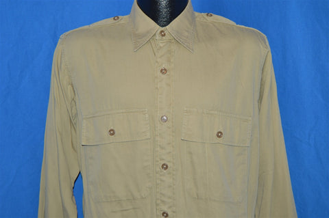 40s Elder World War II Officer's Shirt Large