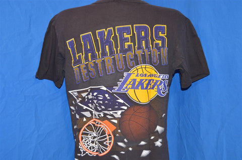 90s Los Angeles Lakers Shattered Backboard Slam Dunk t-shirt Large