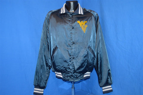80s West Virginia Mountaineers Satin Jacket Large