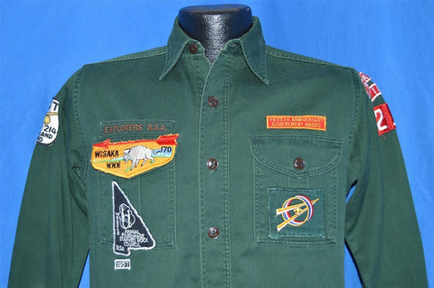 50s Explorer Scout BSA Rock Island Shirt Medium
