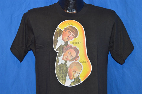 80s Three Stooges Moe Larry Curly Iron On t-shirt Medium