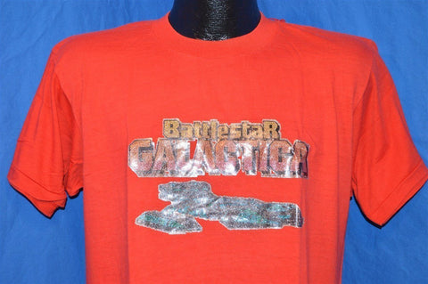 70s Battlestar Galactica Glitter Iron On t-shirt Large