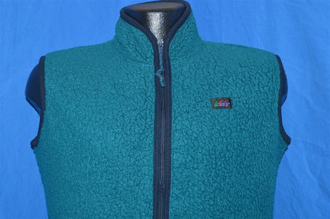 80s REI Green Fleece Vest Youth Extra Large