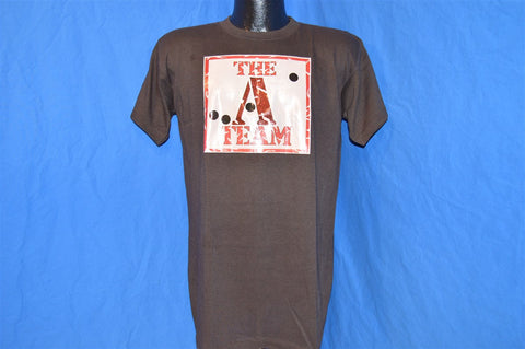 80s The A Team TV Show Defecation Handler Glitter Iron On t-shirt Large
