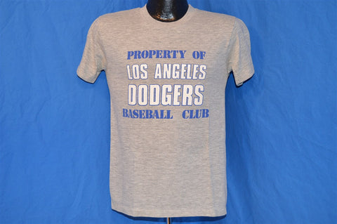 80s Property of Los Angeles Dodgers Baseball Club Heathered Gray t-shirt Small