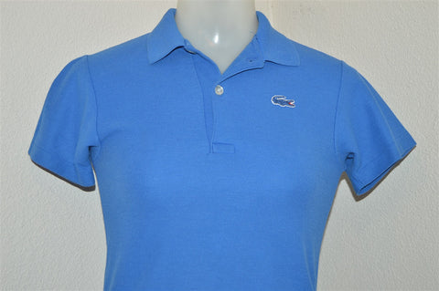 80s Izod Lacoste Blue Polo Shirt Youth Medium