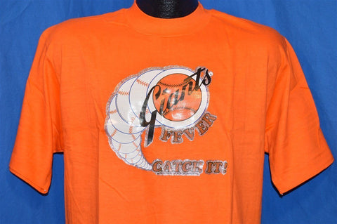 70s San Francisco Giants Fever Glitter Iron On Baseball Logo t-shirt Large