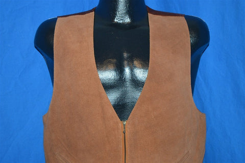 80s Suede Leather Vest Men's Size 38