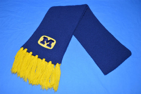 80s University of Michigan Ski Winter Scarf