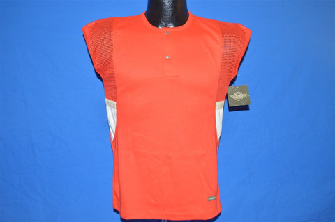 80s NWT Wings Sleeveless Mesh Henley t-shirt Youth Extra-Large 18