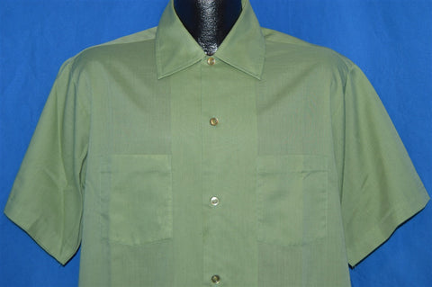 60s Haband Light Green Square Bottom Shirt Large