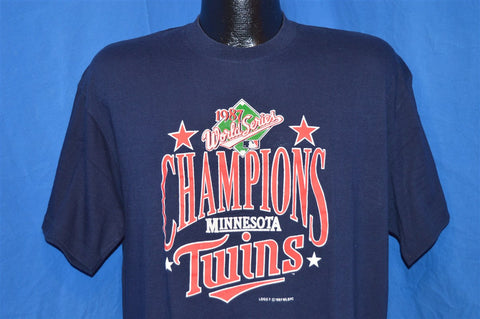 80s Minnesota Twins 1987 World Series Champions t-shirt Large