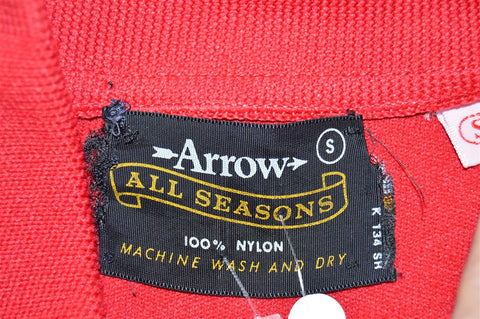 70s Arrow Red Polo Shirt Small