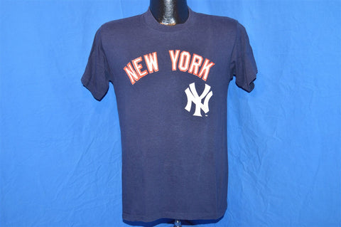 80s New York Yankees Navy Blue Red t-shirt Small