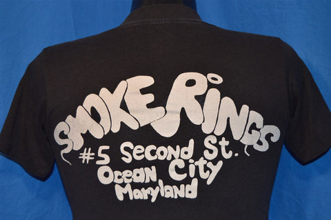 80s The Run Motorcycle Ride Bike Harley Smoke Rings Bar Ocean City MD t-shirt Extra-Small