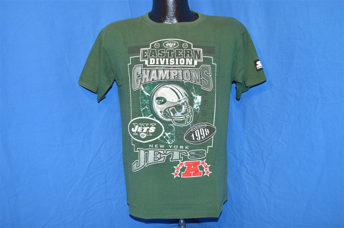 af9272c9e34 90s New York Jets 1998 Eastern Division Champs t-shirt Youth Large ...