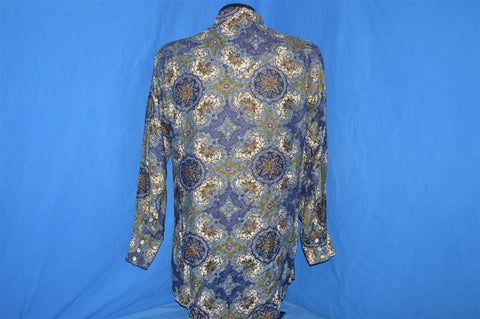 50s H Bar C Paisley Sanforized Western Peal Snap Shirt Medium