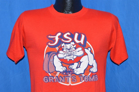 80s FSU Fresno State Bulldogs College Basketball t-shirt Small