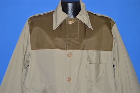 80s Saf-T-Bak Khaki Water Repellent Hunting Jacket Large