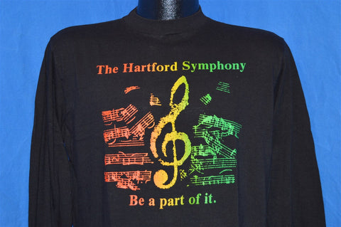 80s Hartford Symphony Be Part of It Rainbow Music Notes Long Sleeve t-shirt Large