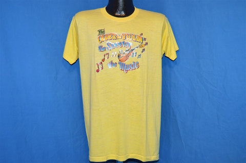 70s Older the Violin Sweeter the Music Glitter Iron On t-shirt Large