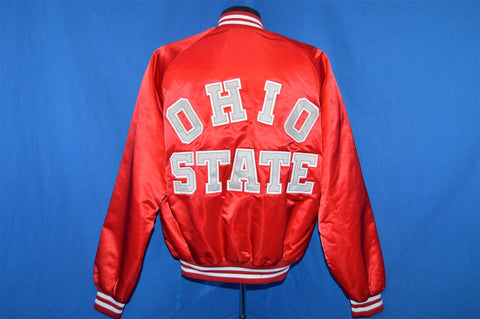 80s Ohio State Buckeyes Satin Jacket Large