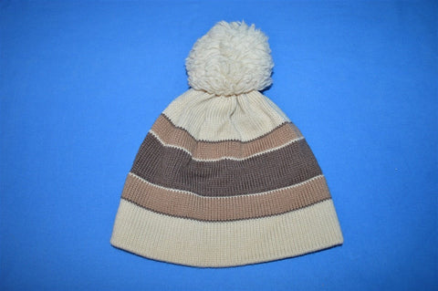 80s Swing West Striped Wool Bobble Winter Hat