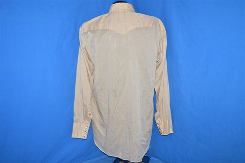 70s H Bar C Tan Pearl Snap Western Shirt Extra Large