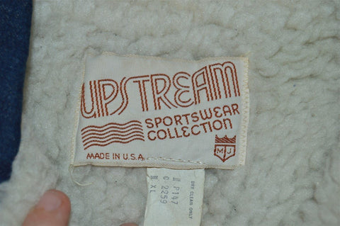 70s Upstream Sherpa Denim Chore Jacket Extra Large