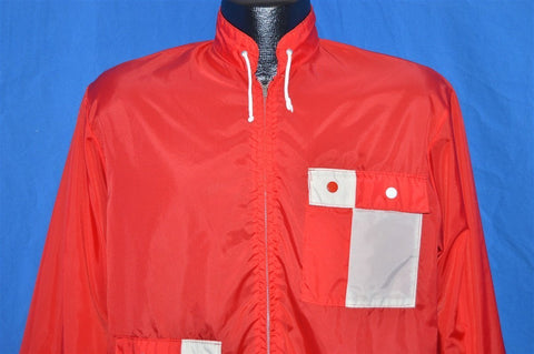 60s Checkered Pocket Yin Yang Windbreaker Jacket Small