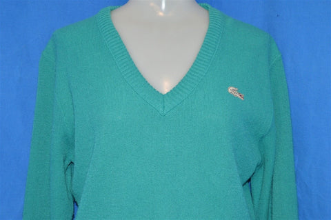 70s Haymaker Lacoste Teal Pullover Sweater Women's 36