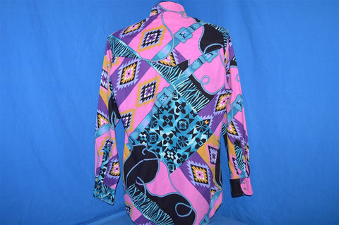 90s Southwest Tribal Horse Riding Button Down Shirt Medium