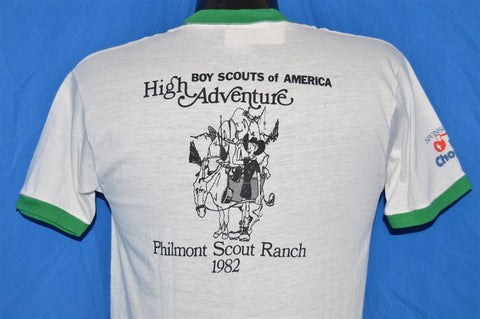 80s Philmont Scout Ranch BSA 1982 Ringer t-shirt Small