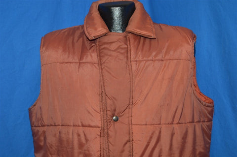 80s Sigallo Brown And Maroon Ski Vest Extra Large