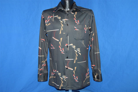 70s Career Club Abstract Geometric Disco Shirt Small Medium