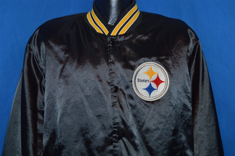 80s Pittsburgh Steelers Satin Jacket Extra Large