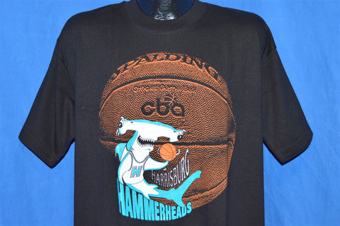 90s Harrisburg Hammerheads CBA Basketball Deadstock NWT t-shirt Extra-Large