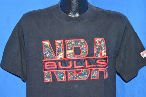 90s Chicago Bulls NBA Paisley Sewn On Applique Logo t-shirt Medium
