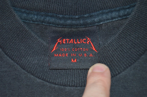 90s Metallica Black Album 1991 World Tour Metal Rock t-shirt Small