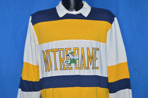 90s Notre Dame Fightin Irish Pullover Polo Shirt Large