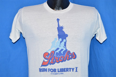 80s Stroh's Beer Run for Liberty I Statue of Liberty New York t-shirt Small