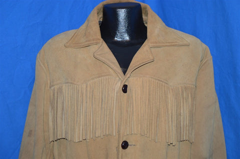 70s Leather Tassel Jacket Men's Medium