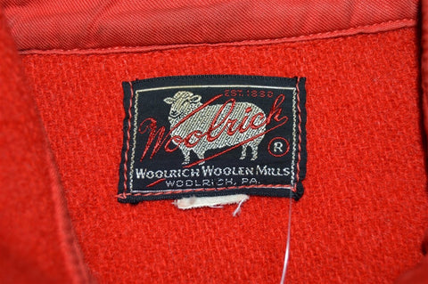 40s Woolrich Button Down Wool Hunting Jacket Large