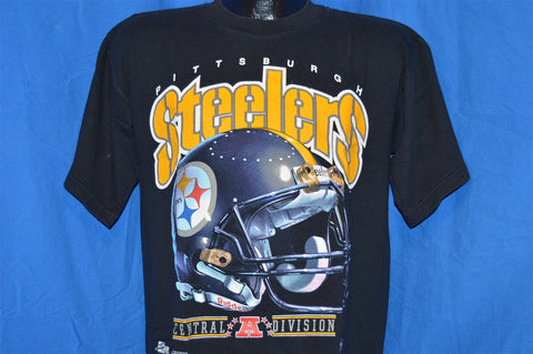 90s Pittsburgh Steelers Salem Football Helmet t-shirt Large